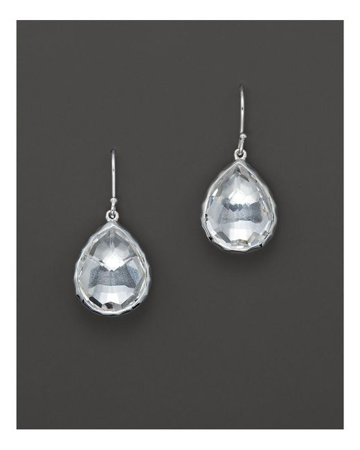 Ippolita - Metallic Sterling Silver Rock Candy Small Teardrop Earrings In Clear Quartz - Lyst