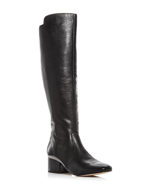 Marc Fisher | Black Women's Tawn Leather Tall Boots | Lyst