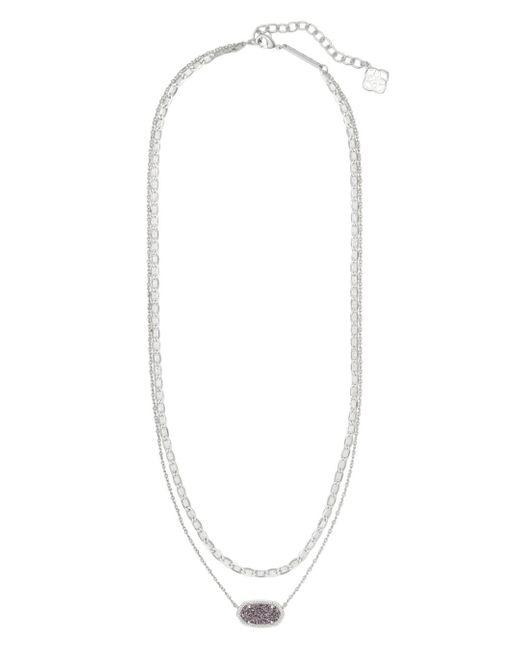 Kendra Scott Metallic Elisa Silver Multi Strand Necklace