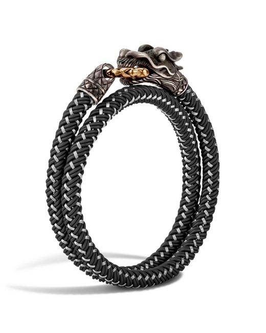 John Hardy - Black Men's Legends Naga Bracelet W/ Nylon Cord for Men - Lyst