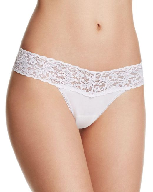 Hanky Panky White Petite Cotton With A Conscience® Low - Rise Thong