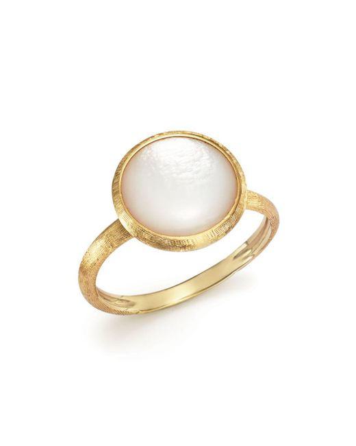 Marco Bicego - Metallic 18k Yellow Gold Jaipur Ring With Mother-of-pearl - Lyst