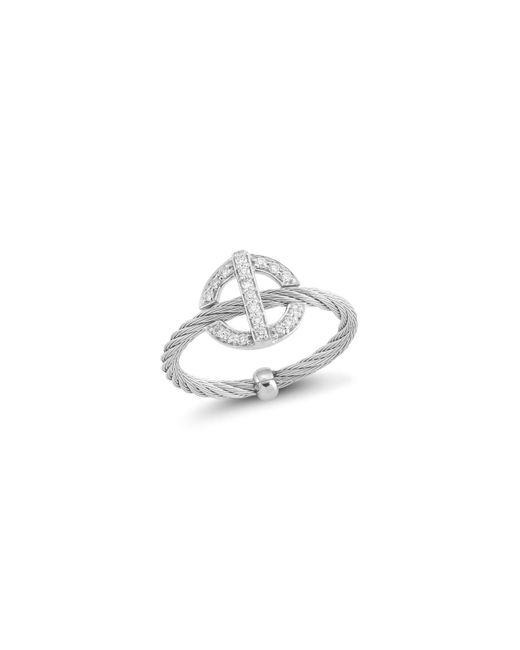 Alor | Metallic Diamond Grey Cable Ring | Lyst