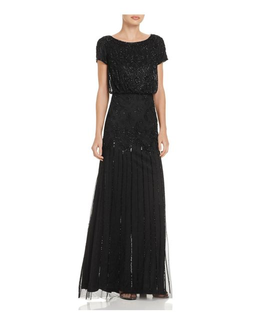 Adrianna Papell | Black Embellished Gown | Lyst