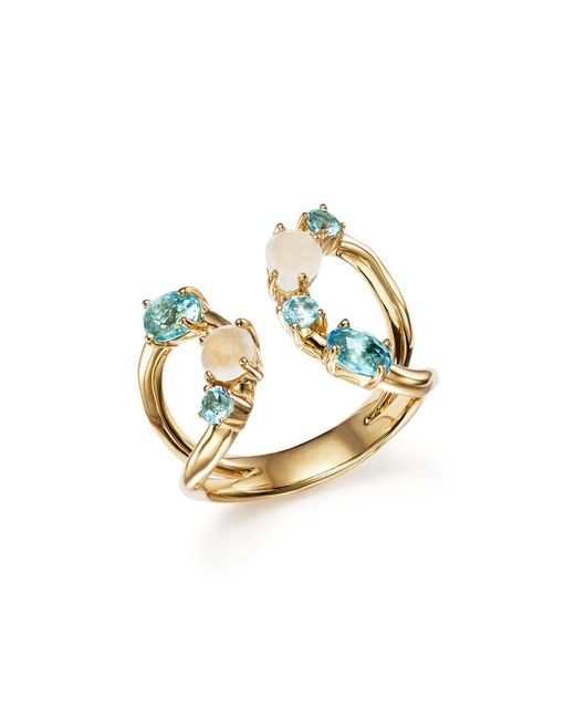 Ippolita - Metallic 18k Yellow Gold Rock Candy Mixed Stone Ring In Raindrop - Lyst