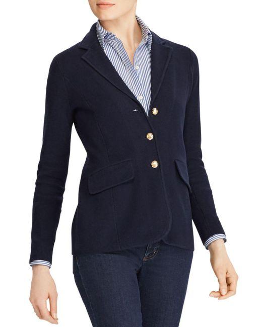 Ralph Lauren Blue Lauren Sweater - Knit Blazer
