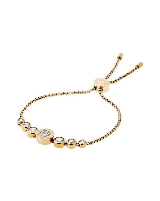 Michael Kors | Metallic Logo Disc Slider Bracelet | Lyst