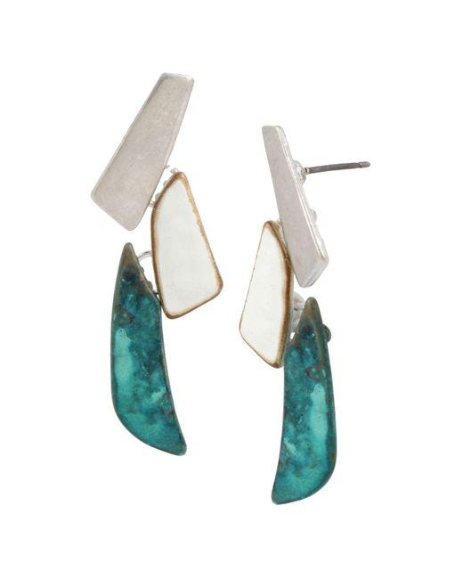 Robert Lee Morris - Multicolor Linear Drop Earrings - Lyst