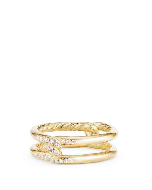 David Yurman - Metallic Continuance Knot Ring With Diamonds In 18k Gold - Lyst