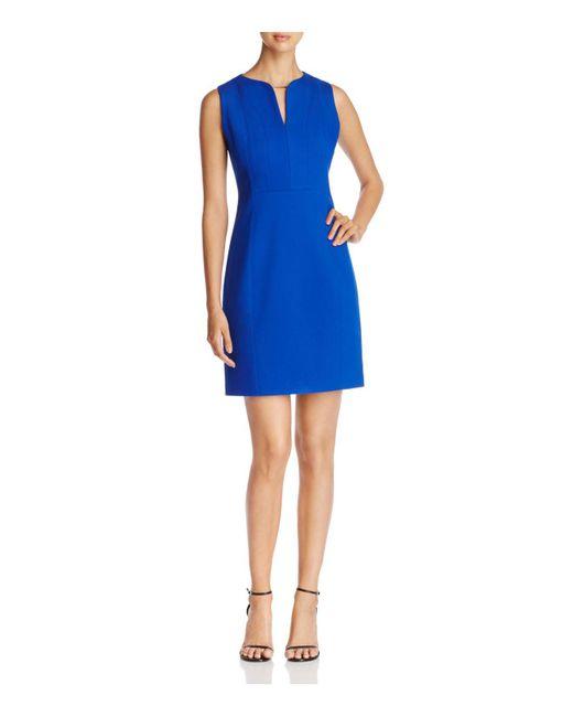 T Tahari   Blue Julia Sleeveless Sheath Dress   Lyst