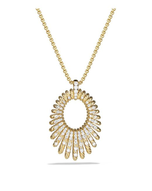 David Yurman | Metallic Tempo Necklace With Diamonds In 18k Gold | Lyst
