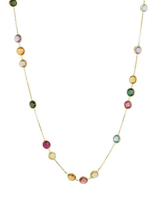 Marco Bicego Metallic 18k Gold Jaipur Mixed Stone Necklace