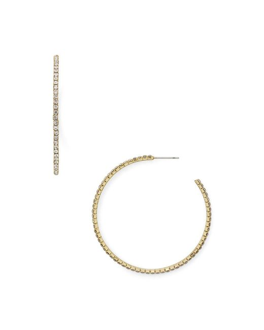 Aqua | Metallic Rachel Crystal Hoop Earrings | Lyst