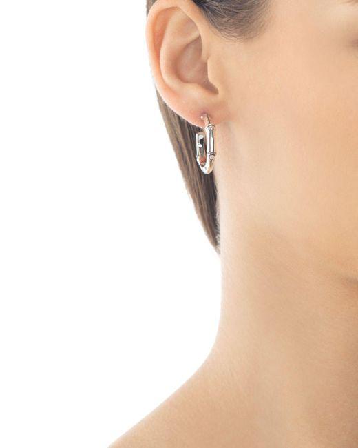 John Hardy Metallic Sterling Silver Bamboo Small Hoop Earrings