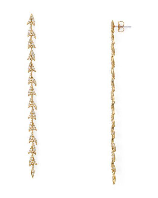 Nadri - Metallic Leaf Drop Earrings - Lyst