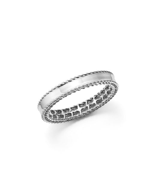 Roberto Coin   18k White Gold Symphony Princess Ring   Lyst