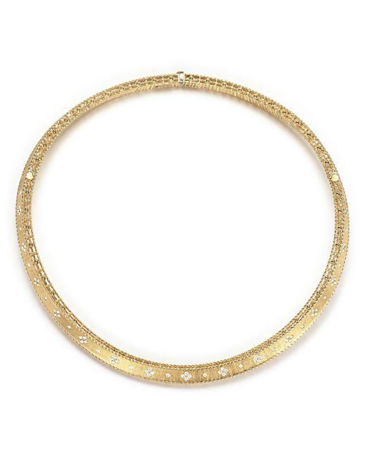Roberto Coin - Metallic 18k Yellow Gold Diamond Link Princess Collar Necklace - Lyst
