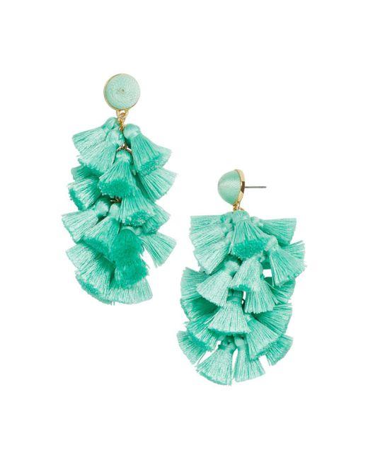 BaubleBar - Green Contessa Tassel Earrings - Lyst