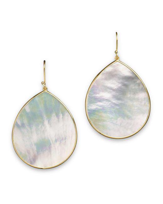 Ippolita - Metallic 18k Gold Polished Rock Candy Jumbo Teardrop Earrings In Mother-of-pearl - Lyst