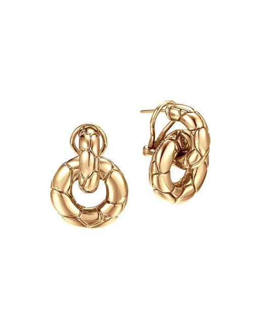 John Hardy | Metallic Kali 18k Gold Small Door Knocker Earrings | Lyst