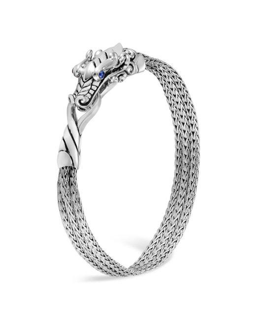 John Hardy - Metallic Sterling Silver Legends Naga Multi-chain Bracelet With Sapphire Eyes - Lyst