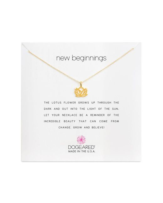 Dogeared Metallic New Beginnings Necklace