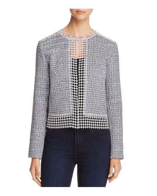 T Tahari | Blue Annabeua Embellished Jacket | Lyst