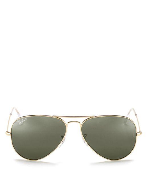 Ray-Ban - Green Ray - Ban Unisex Original Polarized Brow Bar Aviator Sunglasses - Lyst