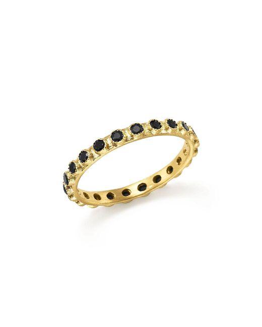 Armenta | Metallic 18k Yellow Gold Sueno Black Sapphire Stacking Ring | Lyst