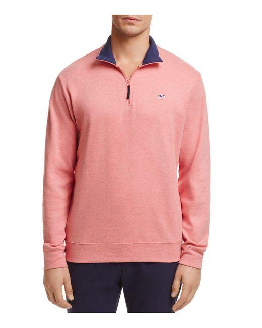 Vineyard Vines   Pink Quarter-zip Cotton Sweater for Men   Lyst