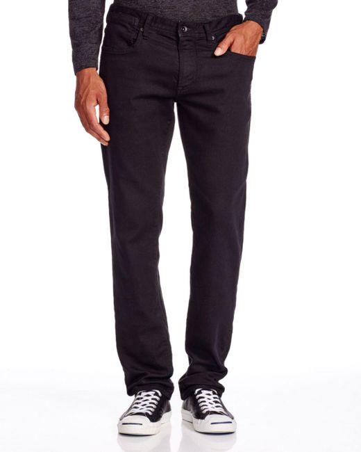 John Varvatos John Varvatos Usa Bowery Straight Fit Jeans In Black for men