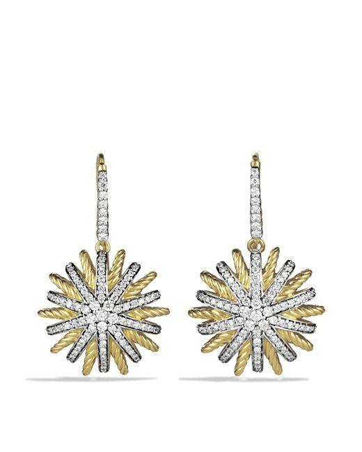 David Yurman | Yellow Starburst Drop Earrings With Diamonds | Lyst