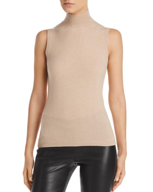 C By Bloomingdale's Multicolor Sleeveless Cashmere Sweater