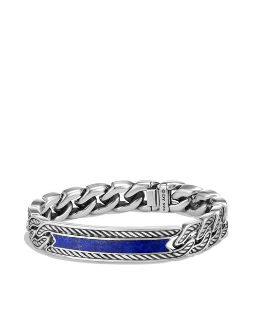 David Yurman - Blue Maritime Curb Link Id Bracelet With Lapis Lazuli - Lyst