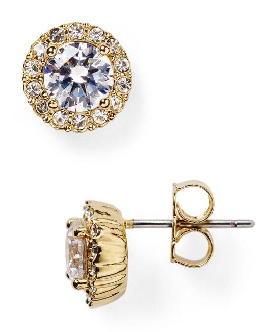 Nadri Metallic Sterling Pavé Stud Earrings
