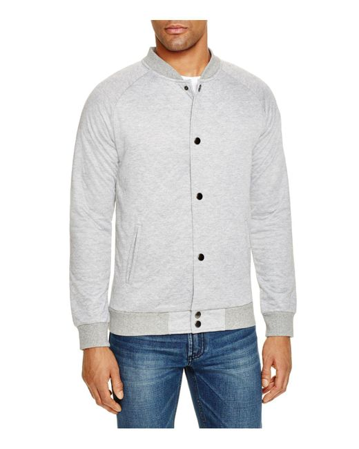 Sovereign Code | Gray Princeton Quilted Snap Sweatshirt for Men | Lyst