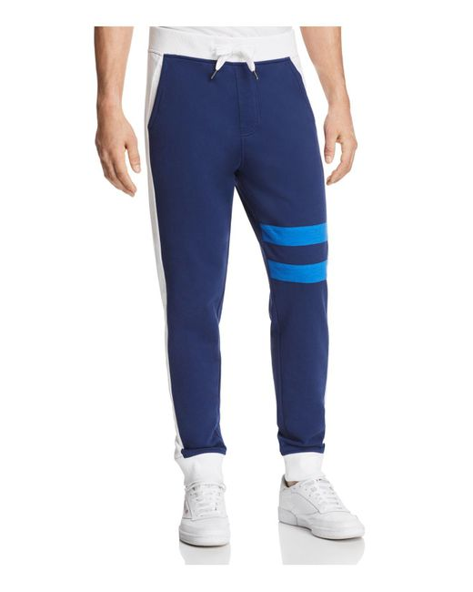 CALVIN KLEIN 205W39NYC - Blue Athletic College Stripe Sweatpants for Men - Lyst