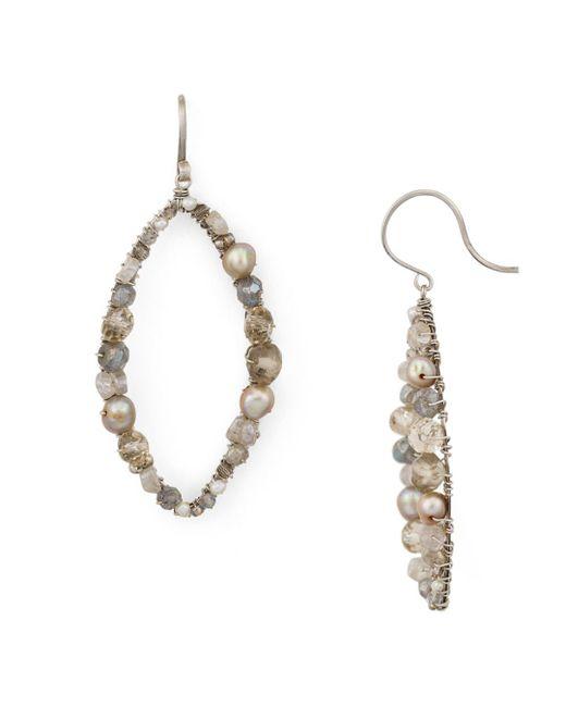 Dana Kellin - Metallic Open Oval Drop Earrings - Lyst