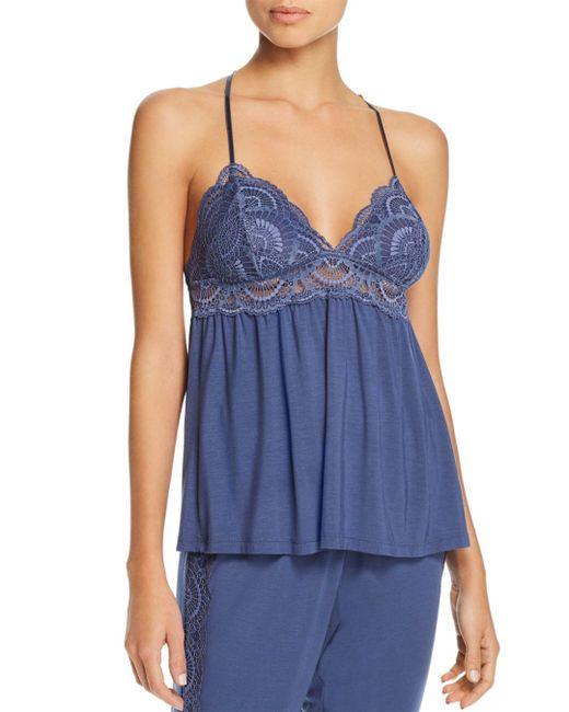 Eberjey Blue Simona Merry Me Lace-trim Camisole