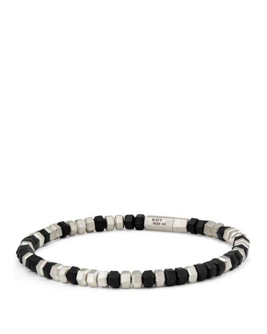 David Yurman - Hexagon Bead Bracelet In Black - Lyst
