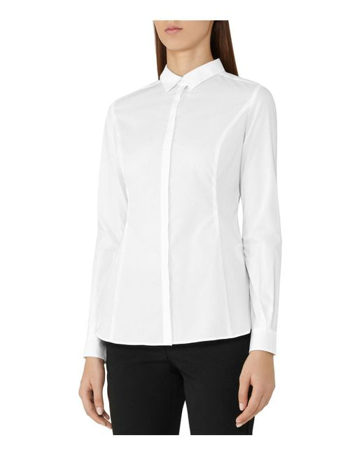 Reiss   White Ruben Core Work Shirt   Lyst