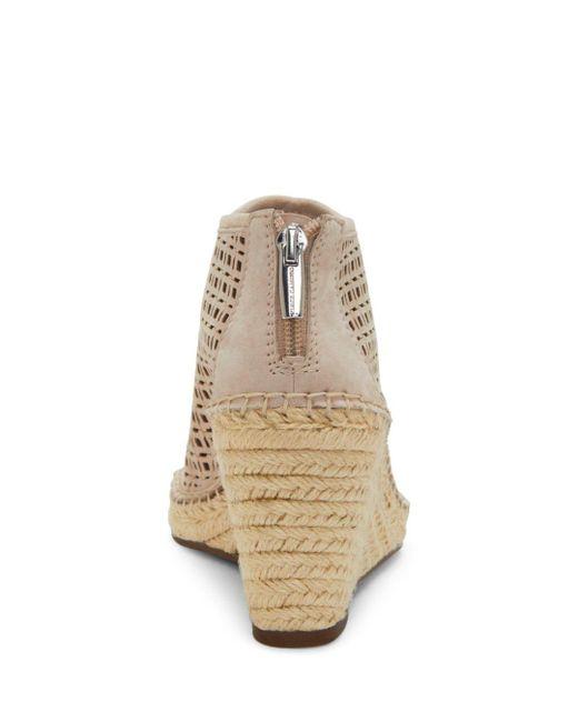 de9c2acf7fa Gray Women's Lereena Caged Leather Peep Toe Espadrille Wedge Sandals