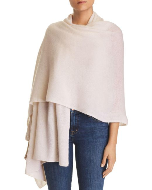 C By Bloomingdale's - Black Lightweight Cashmere Travel Wrap - Lyst