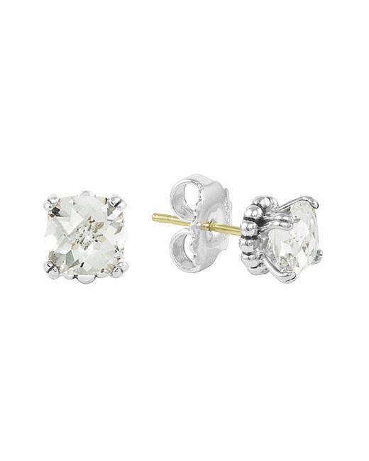 Lagos | Sterling Silver Prism White Topaz Stud Earrings | Lyst