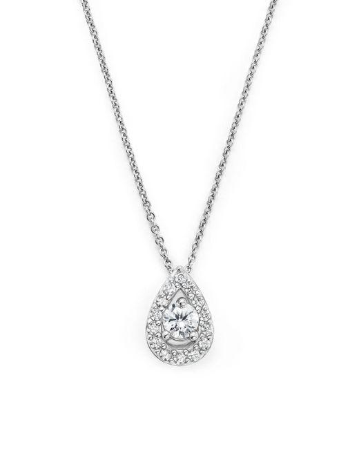 Bloomingdale's - Diamond Teardrop Pendant Necklace In 14k White Gold, .20 Ct. T.w. - Lyst