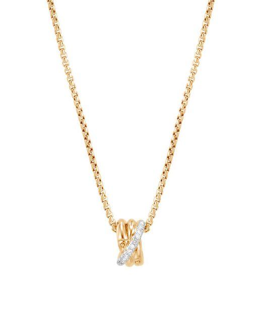 John Hardy - Metallic 18k Yellow Gold Diamond Pendant Necklace - Lyst