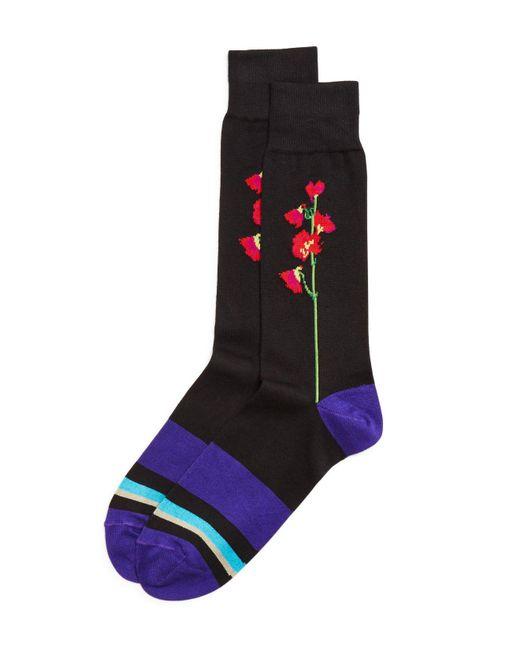 Paul Smith   Black Mainline Floral Socks for Men   Lyst