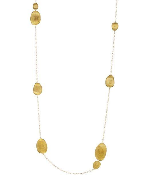 Marco Bicego Metallic 18k Yellow Gold Lunaria Necklace