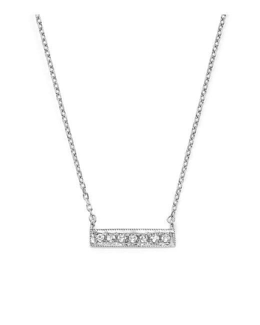 Dana Rebecca | 14k White Gold Sylvie Rose Medium Bar Necklace With Diamonds | Lyst
