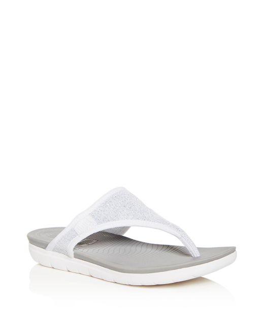 Fitflop - White Women's Uberknit Flip-flops - Lyst